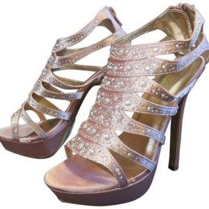LILIANA Pink Platform Heels Sz 7